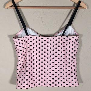 Catalina Swim - Catalina swim tankini only polka dot pink black L